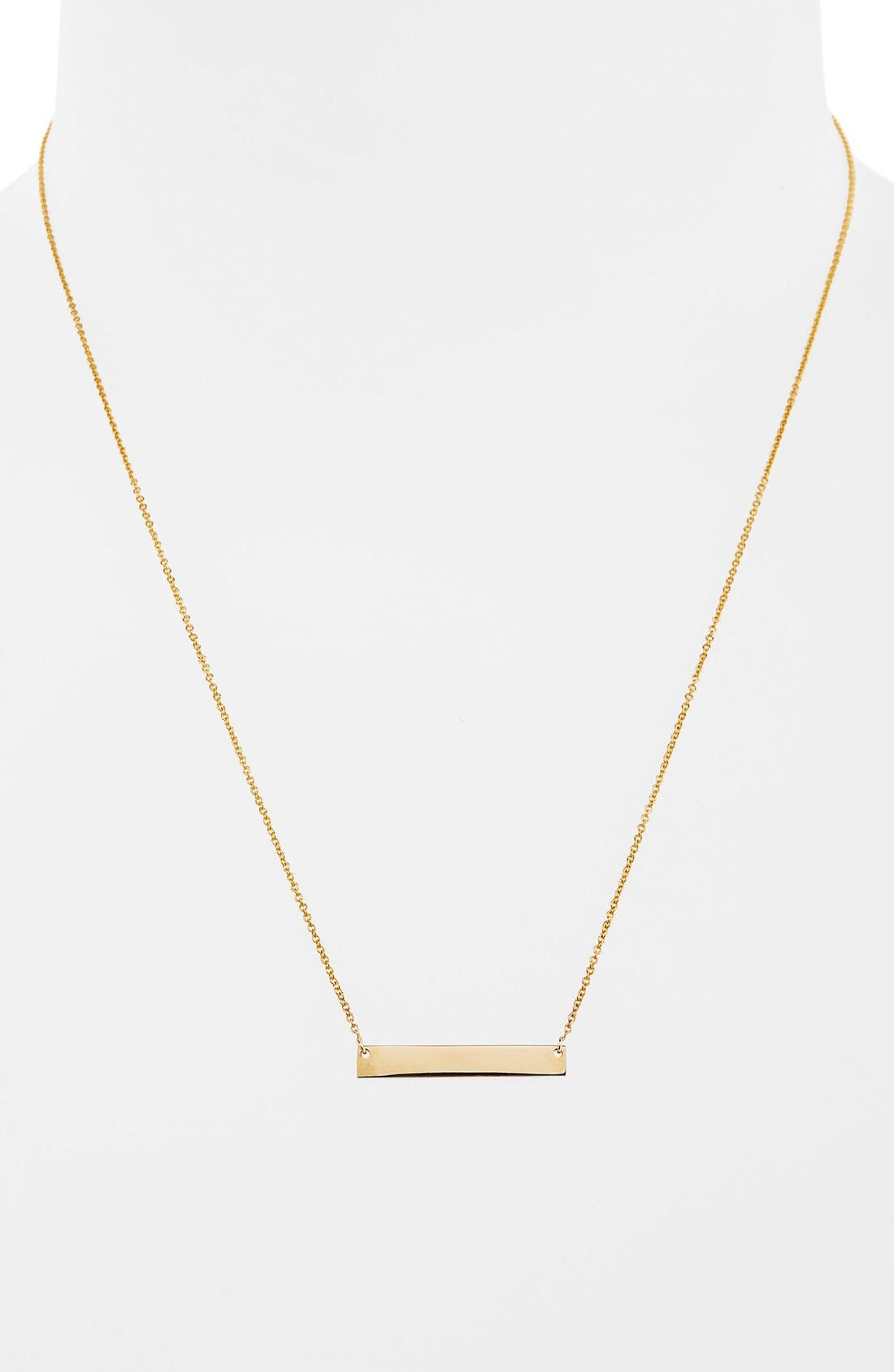 Alternate Image 2  - Bony Levy 14k Gold Bar Pendant Necklace (Nordstrom Exclusive)