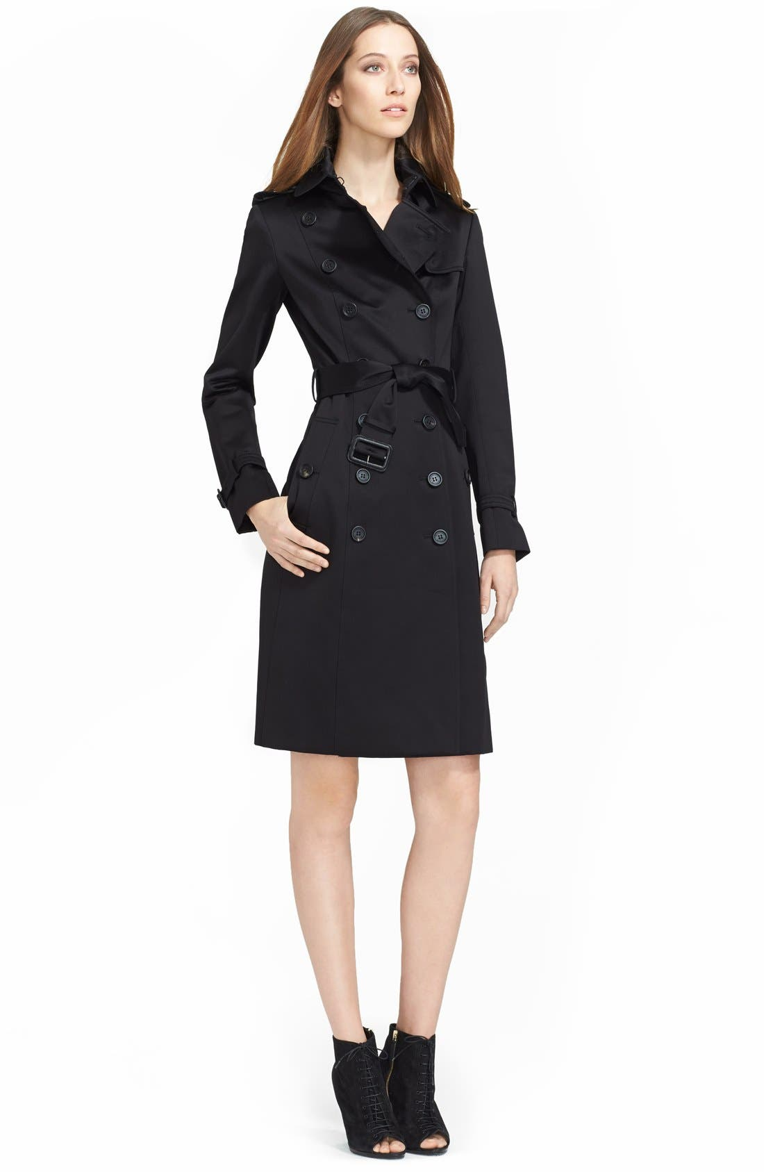 Alternate Image 1 Selected - Burberry Prorsum Double Breasted Trench Coat