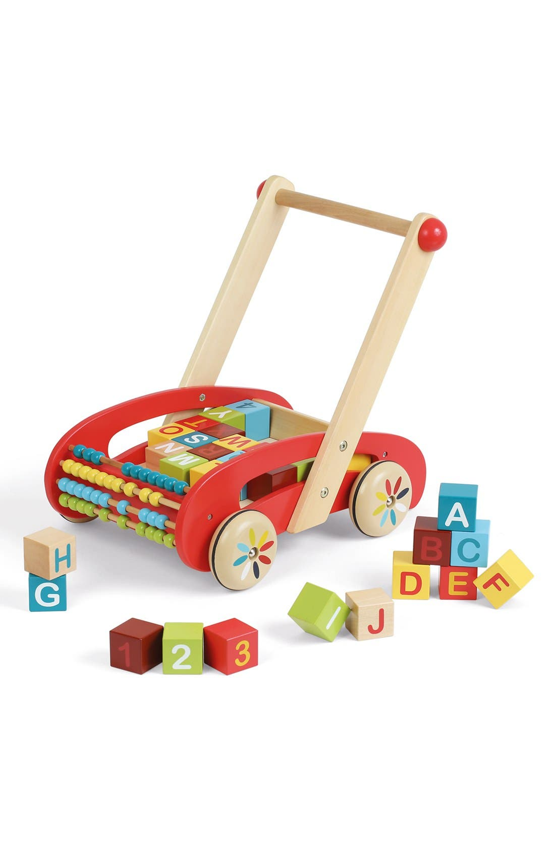 ABCWooden Block Buggy,                             Alternate thumbnail 3, color,                             Red