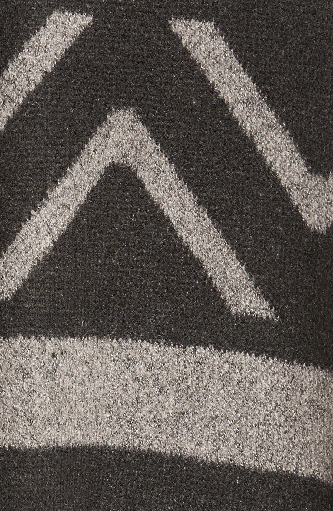 Alternate Image 5  - Matty M Geo Print Short Sleeve Knit Poncho