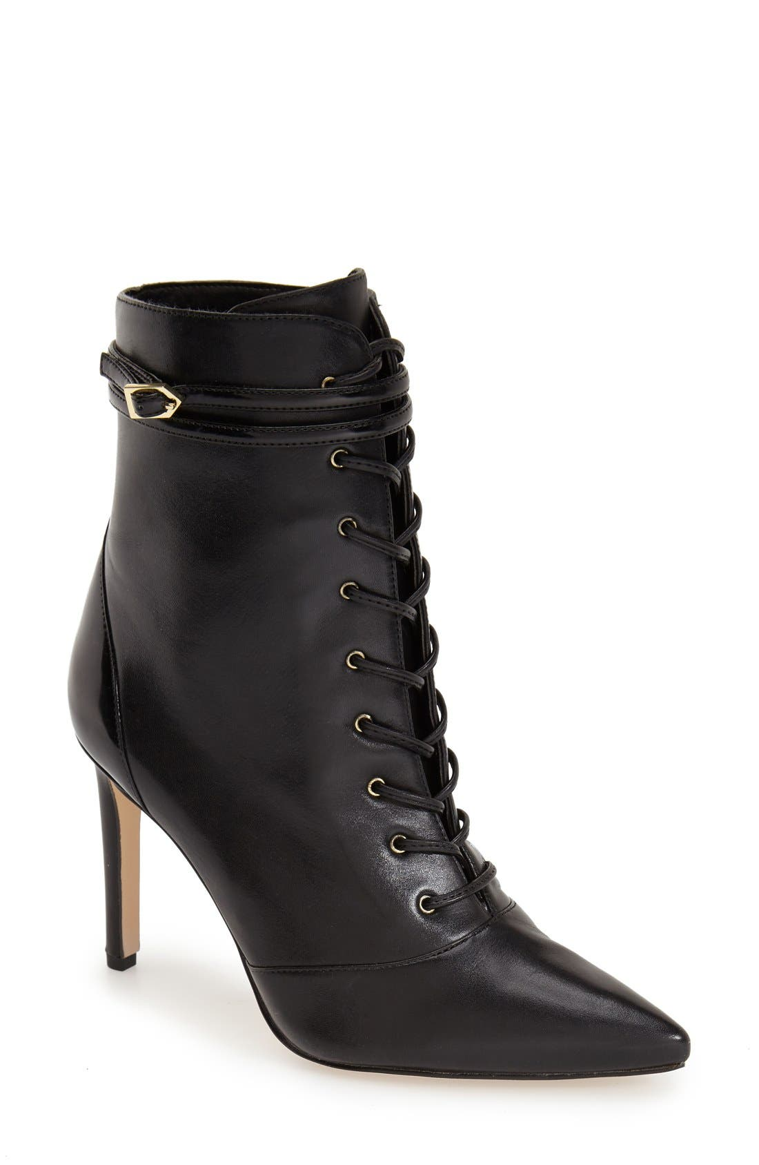 Alternate Image 1 Selected - Sam Edelman'Bryton' Pointy Toe Lace Up Bootie(Women)