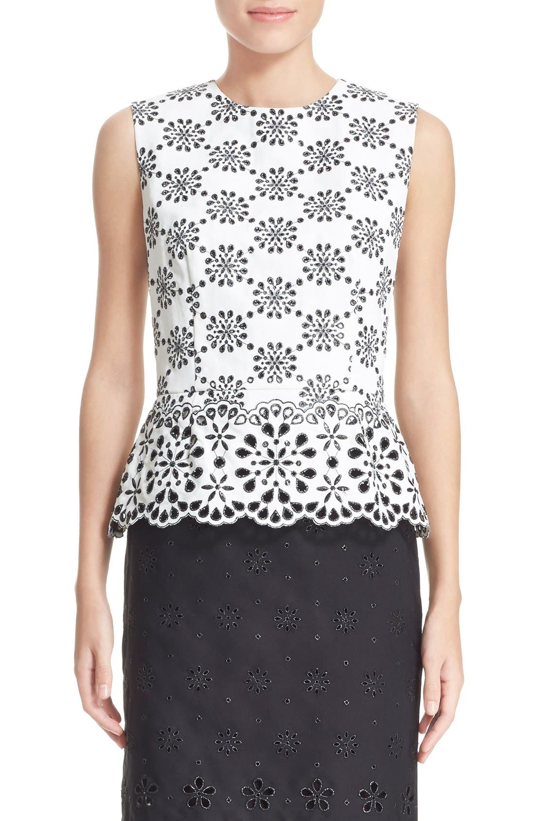 Alternate Image 1 Selected - MARC JACOBS Lace Peplum Blouse