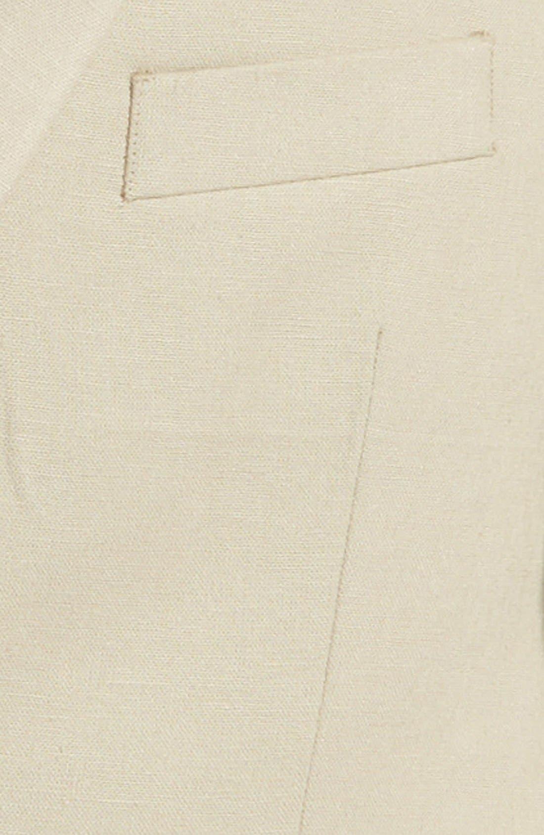 Linen Blend Blazer,                             Alternate thumbnail 3, color,                             Tan