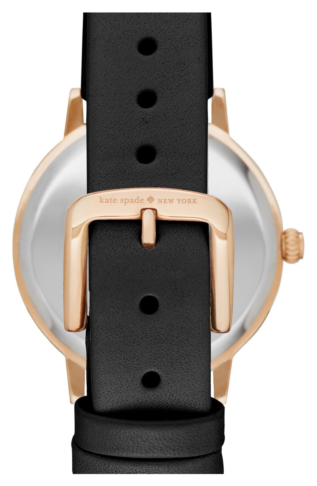 Alternate Image 2  - kate spade new york 'monterey' leather strap watch, 35mm