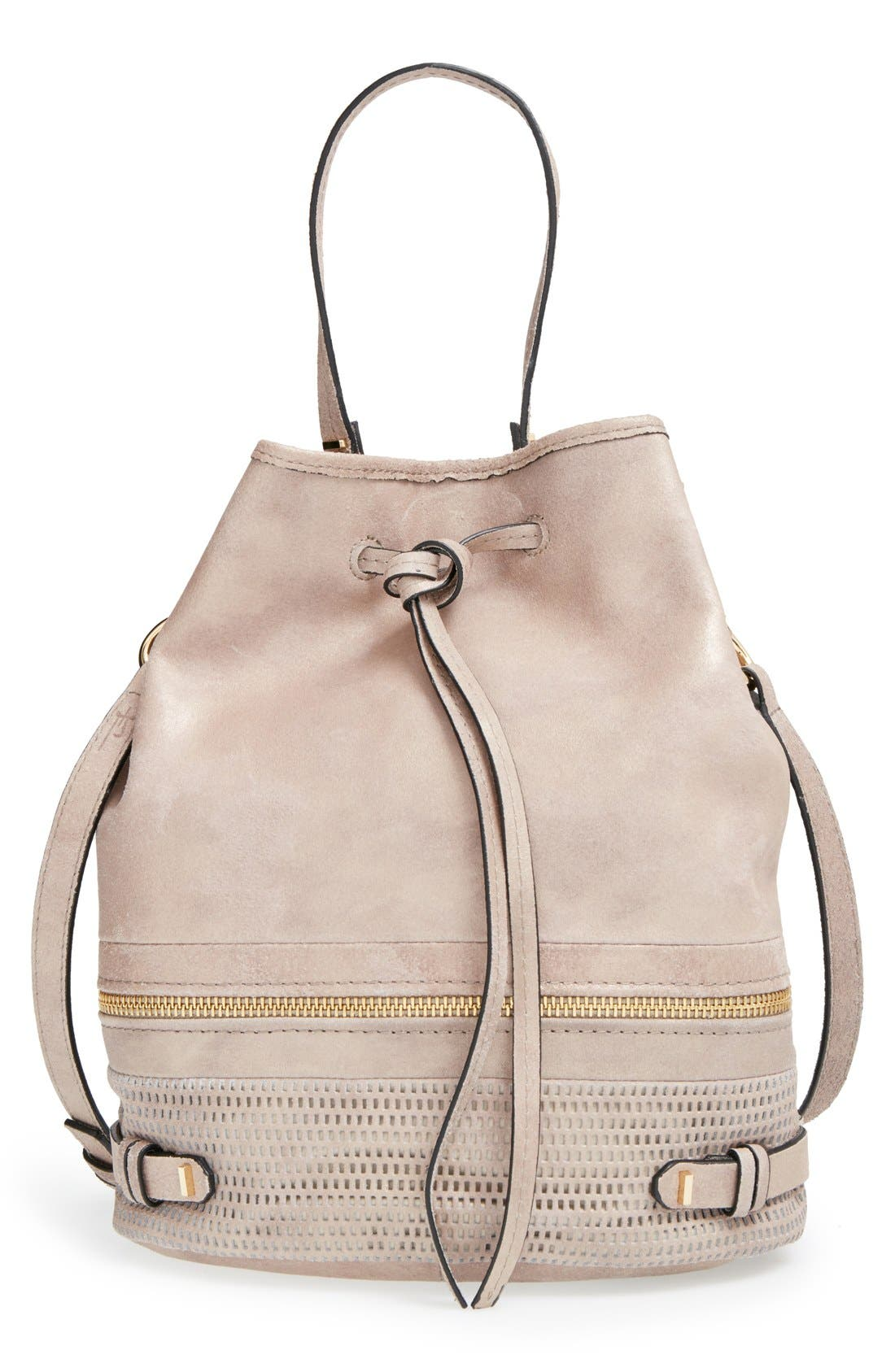 Alternate Image 1 Selected - She + Lo 'Silver Lining' Drawstring Shoulder Bag