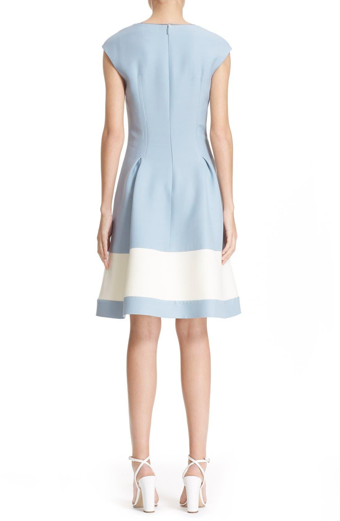 Alternate Image 2  - Fendi Stripe Wool & Silk Blend Fit & Flare Dress