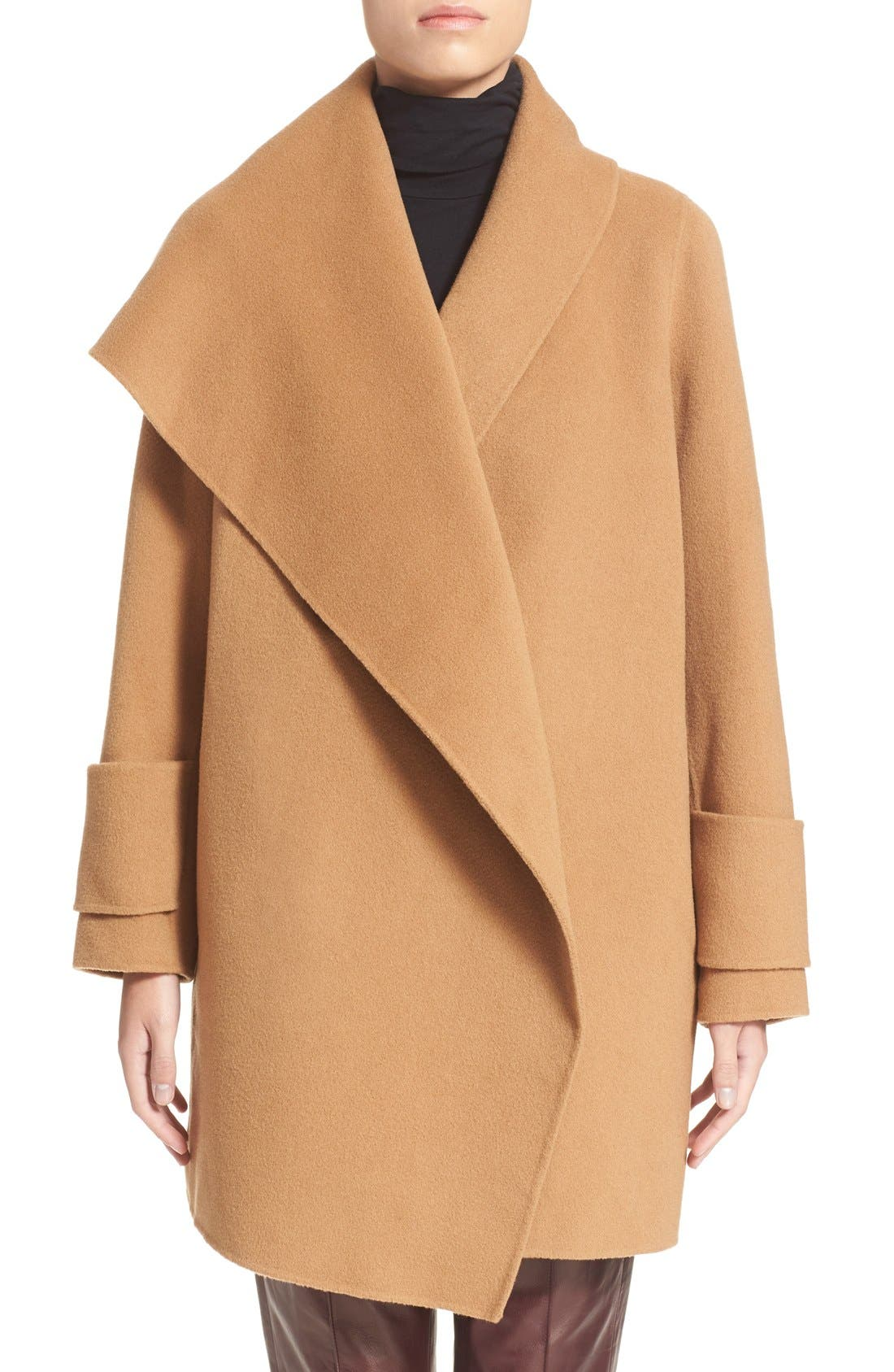 pin a online face double color out sold pocket is coat camuto black vince drape hooded drapes welt this