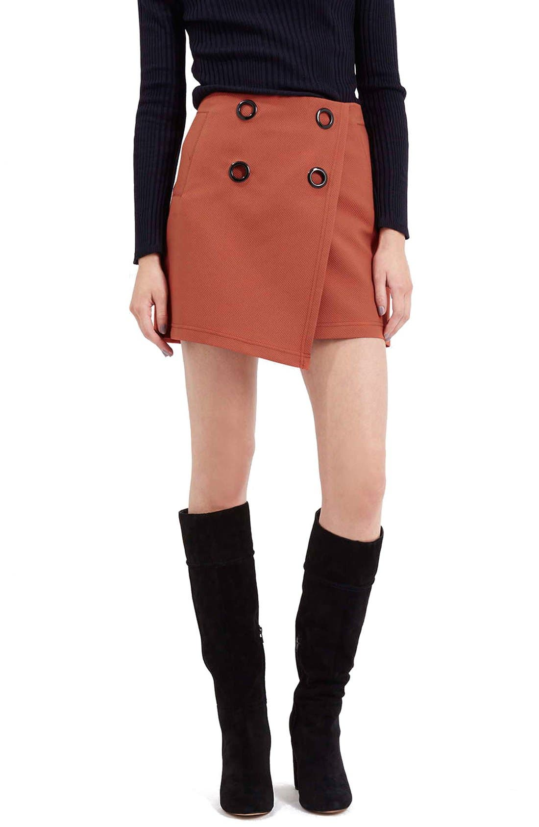 Alternate Image 1 Selected - Topshop Wrap Miniskirt