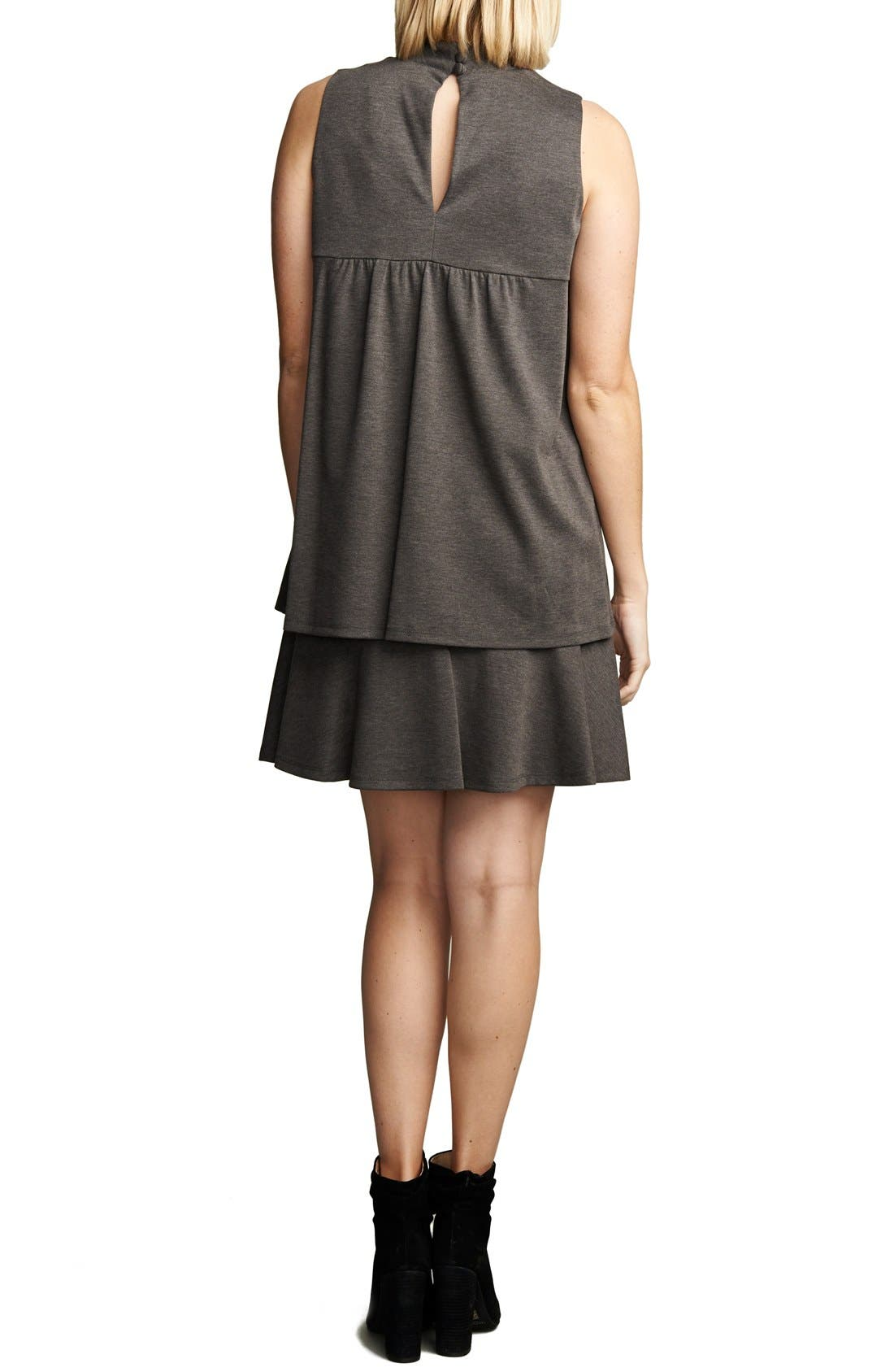 'Lucy' Maternity Dress,                             Alternate thumbnail 2, color,                             Heather Charcoal