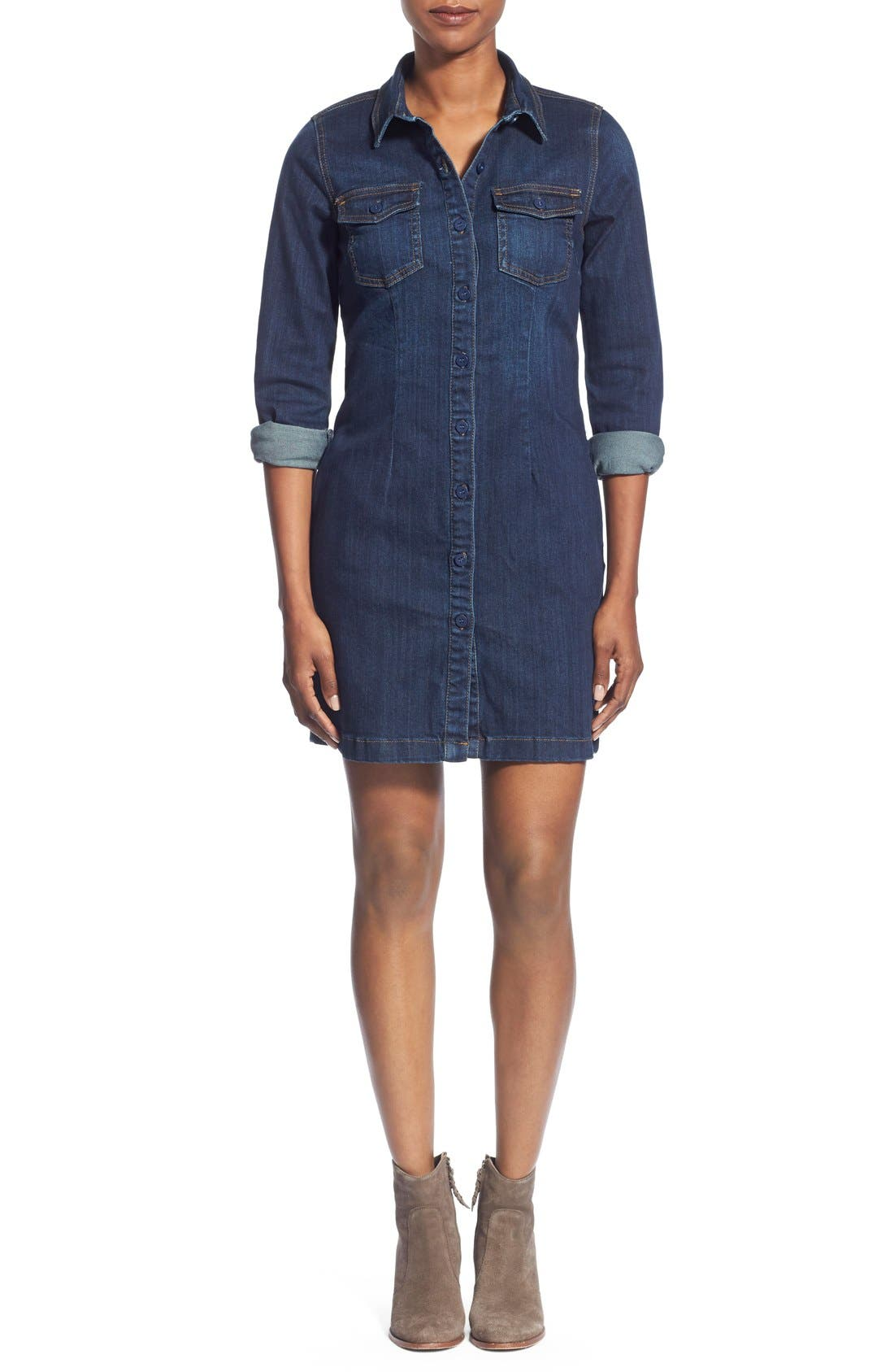 Alternate Image 1 Selected - KUT from the Kloth 'Blake' Denim Shirt Dress