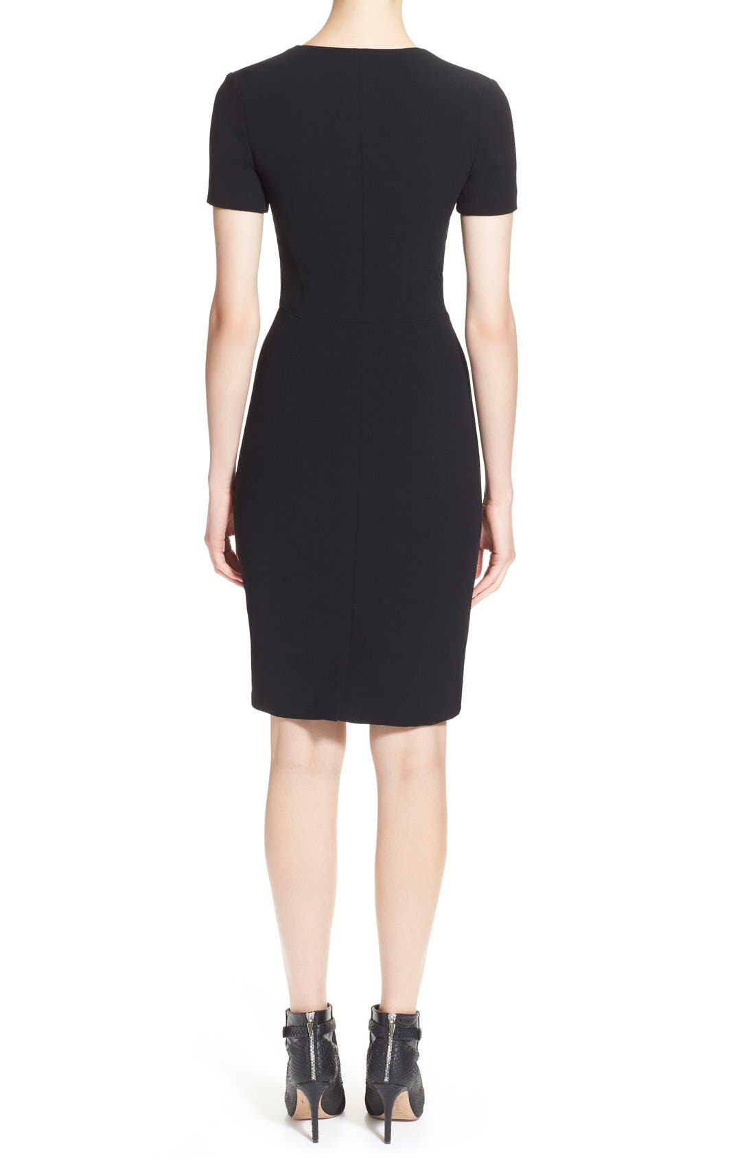 Alternate Image 2  - Prabal Gurung Zip Front Stretch Wool Sheath Dress