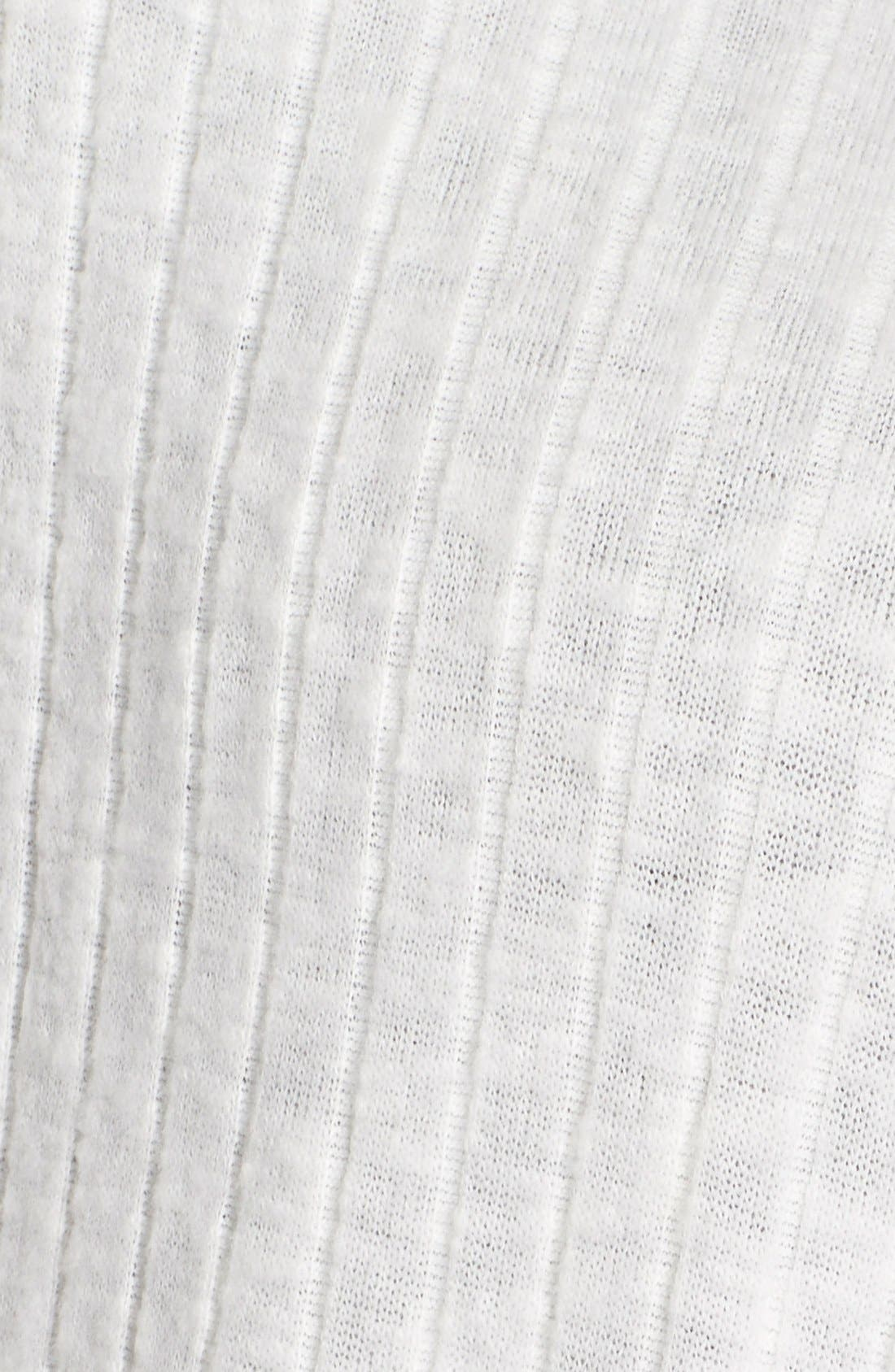 Alternate Image 5  - Bobeau Rib Knit One-Button Cardigan (Plus Size)