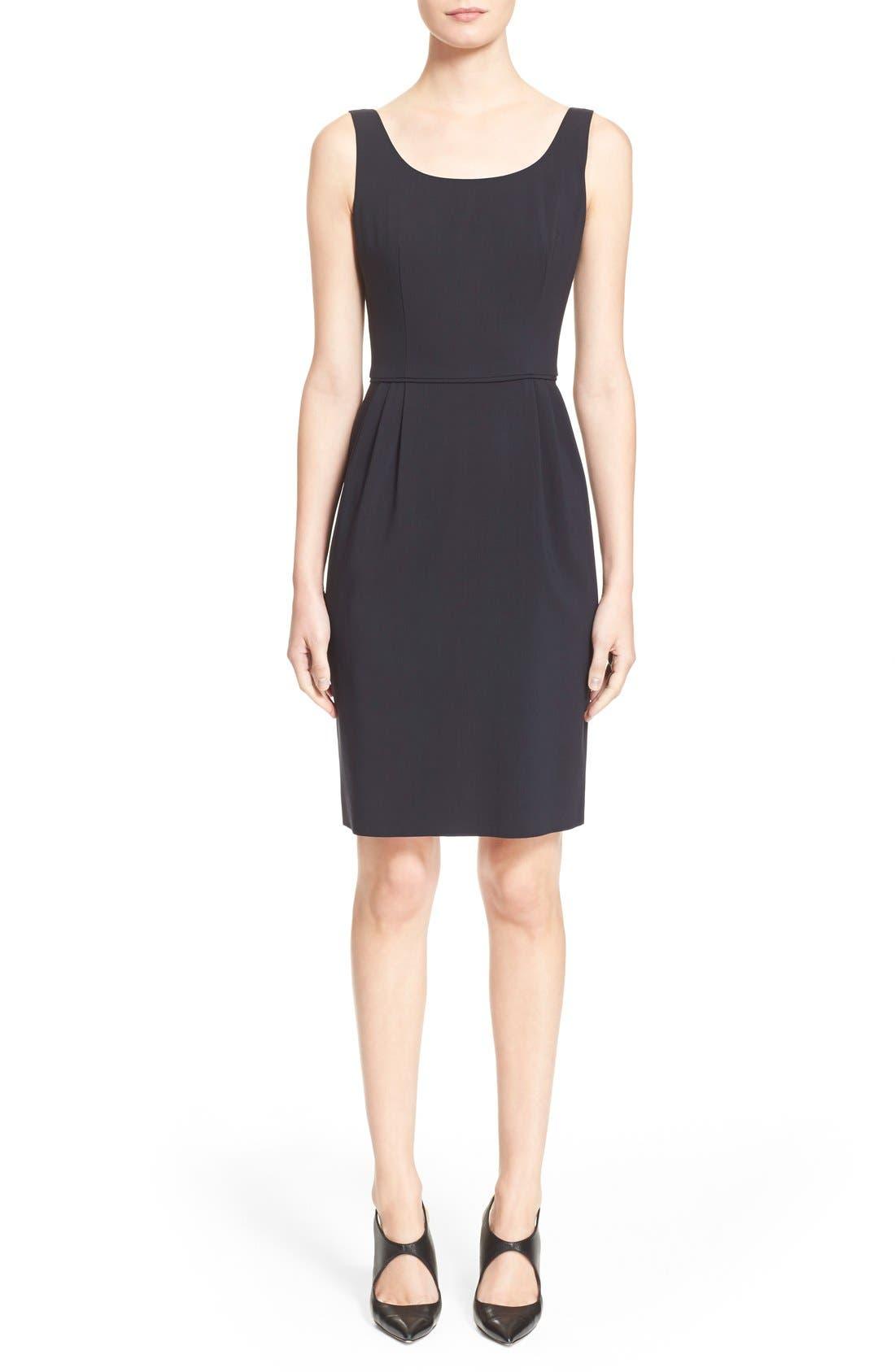 Alternate Image 1 Selected - Armani Collezioni Featherweight Wool Dress