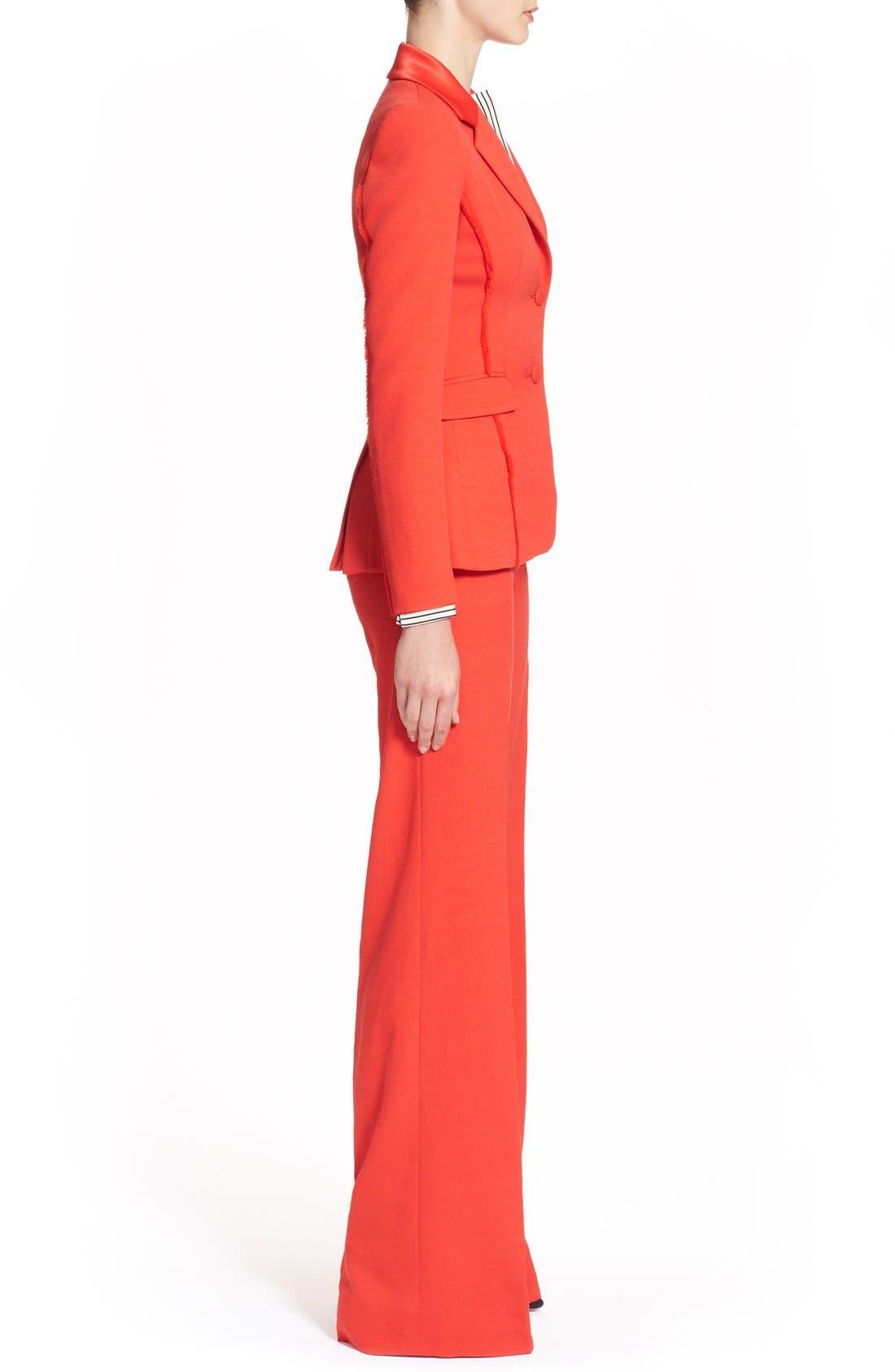 Alternate Image 5  - Altuzarra 'Fenice' Textured Blazer with Fraying Fringe