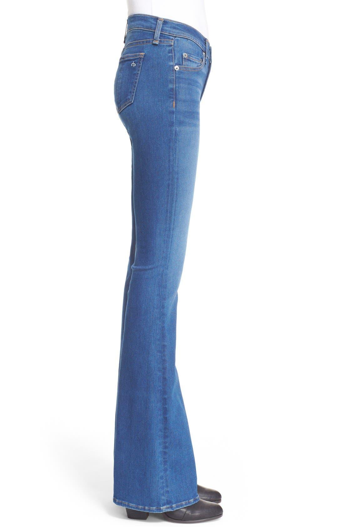Alternate Image 3  - rag & bone/JEAN Bell Bottom Jeans (Houston)