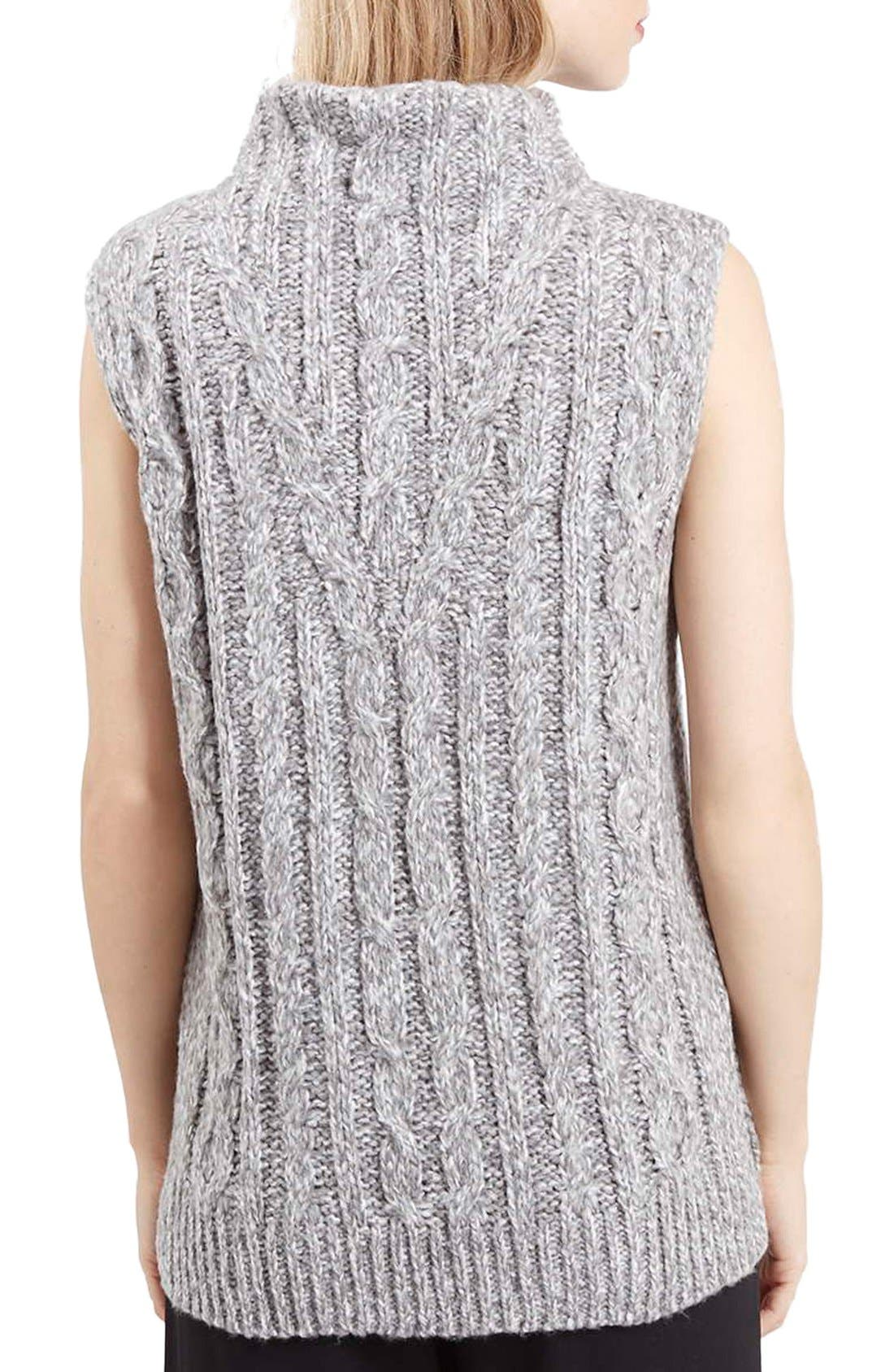 Alternate Image 3  - Topshop Cable Knit Tabard Sweater
