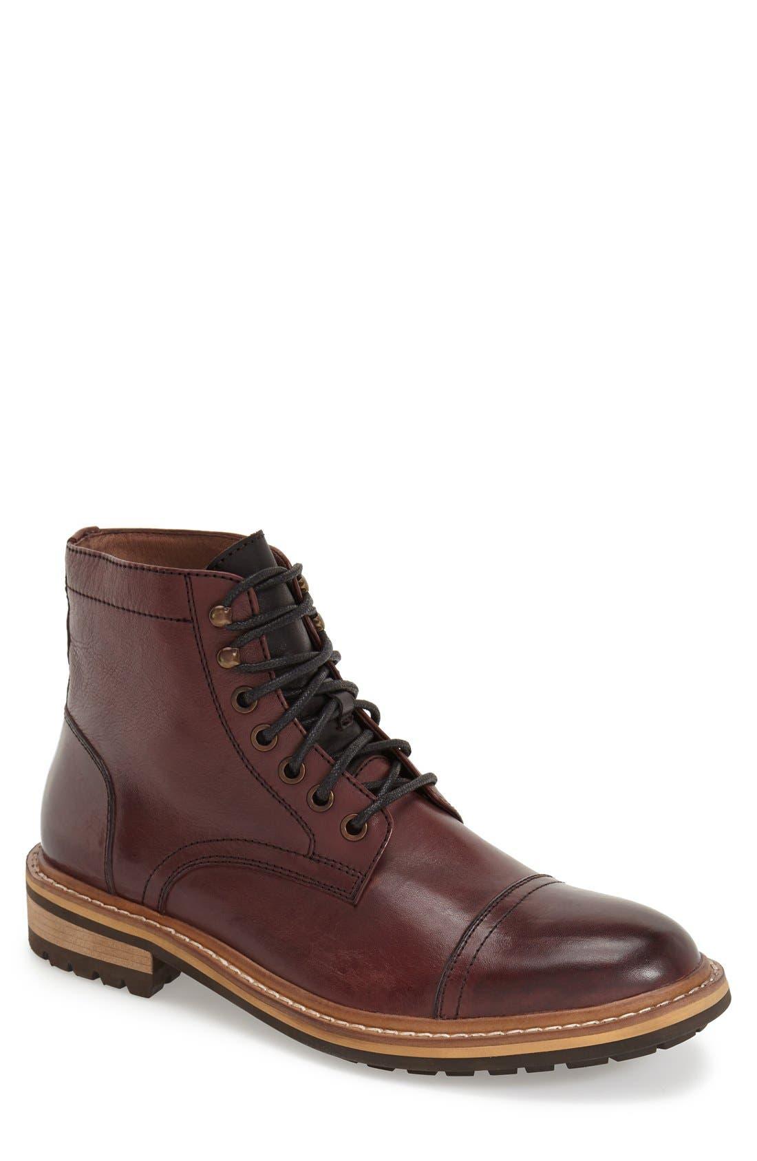 Alternate Image 1 Selected - 1901 Collins Cap Toe Boot (Men)