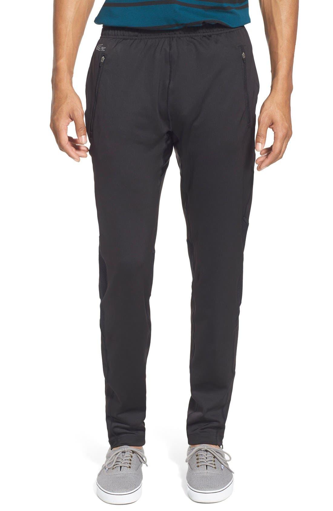 'Sport' Ultra Dry Stretch Performance Track Pants,                             Main thumbnail 1, color,                             Black