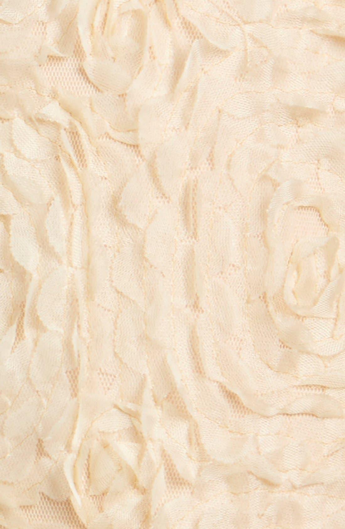 Rosette Drop Waist Dress,                             Alternate thumbnail 3, color,                             Ivory