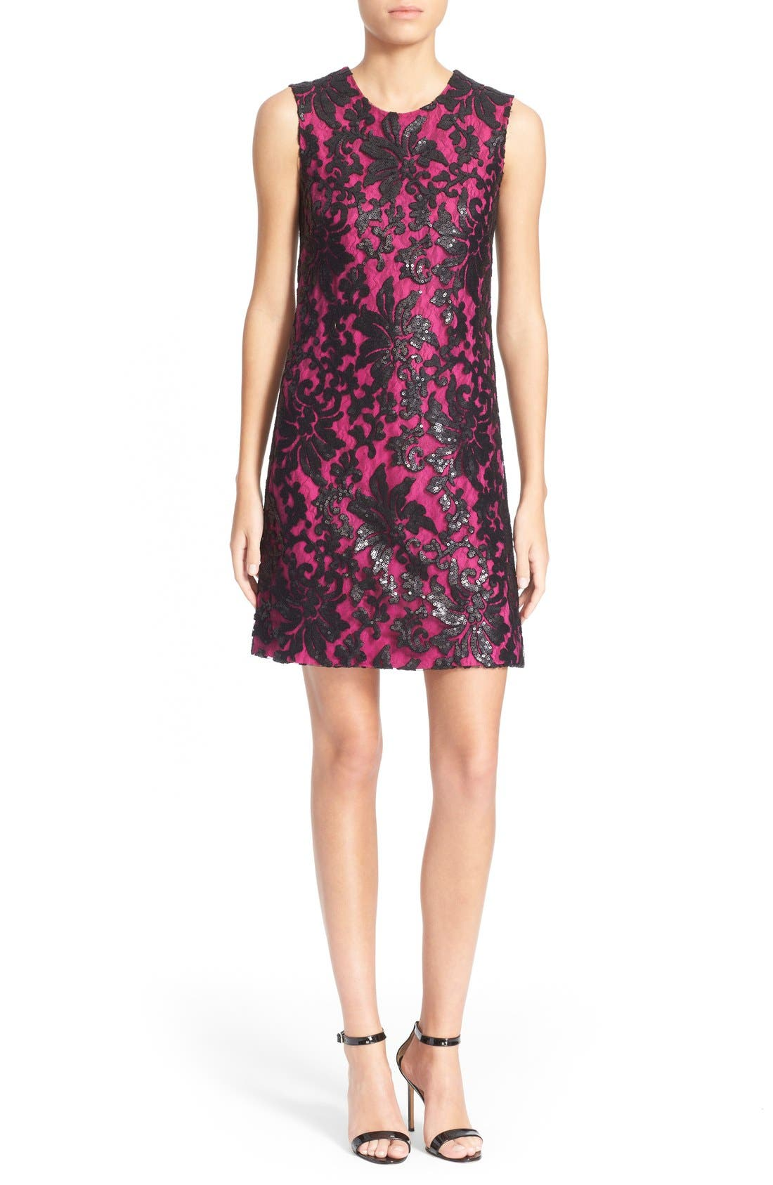 Main Image - Diane von Furstenberg 'Kaleb' Embellished Lace Sheath Dress