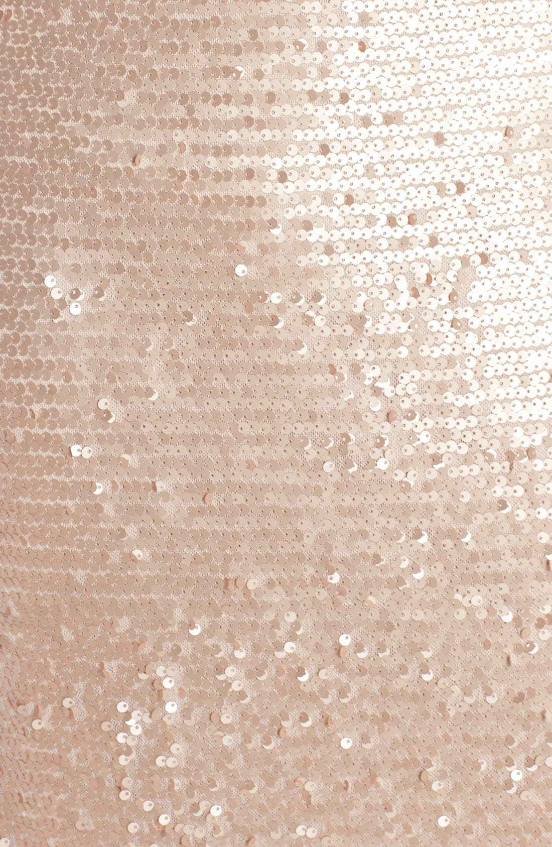 Alternate Image 5  - Adrianna Papell Sequin Mesh A-Line Gown