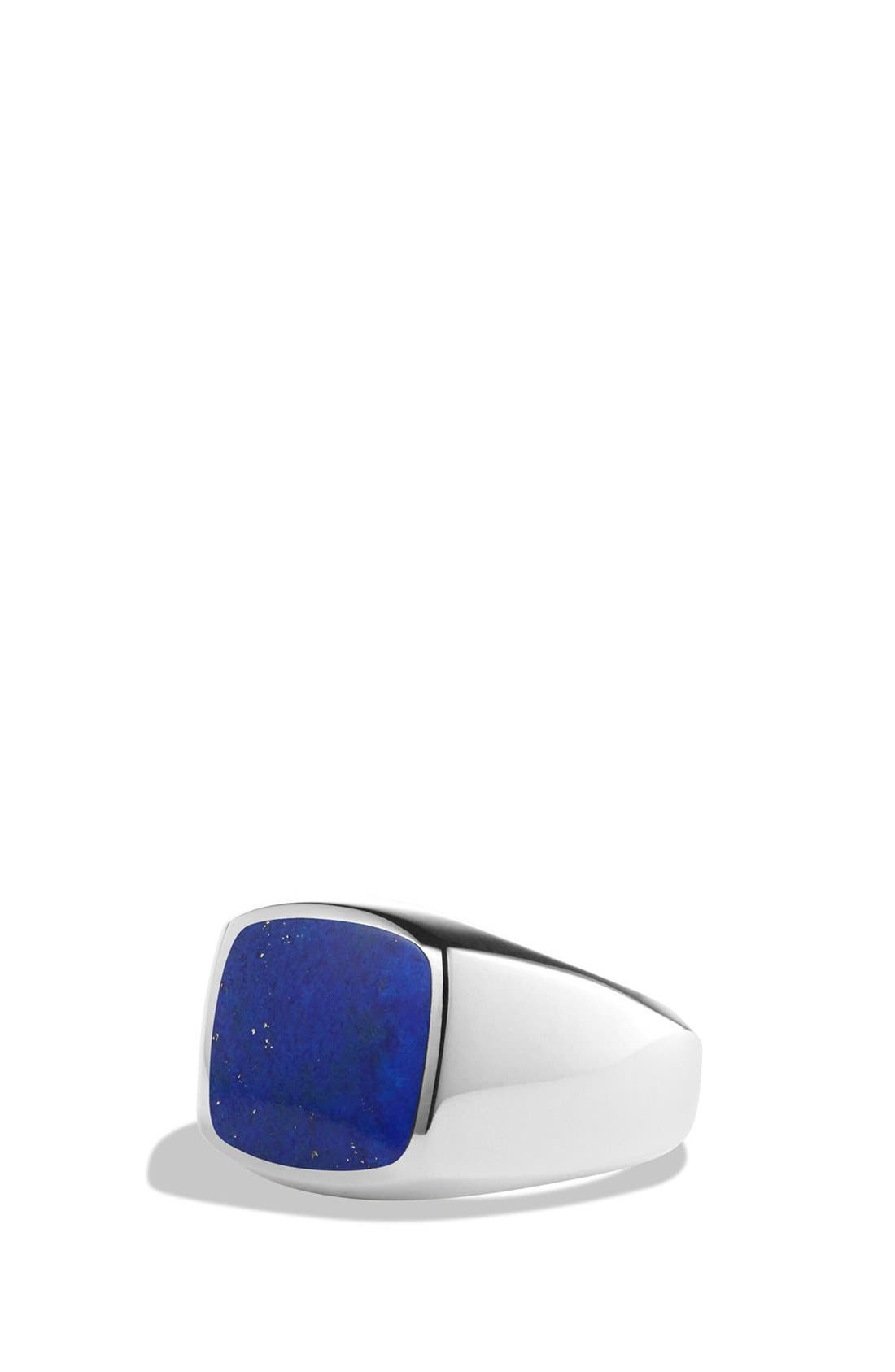 'Exotic Stone' Signet Ring in Silver,                             Main thumbnail 1, color,                             Lapis Lazuli