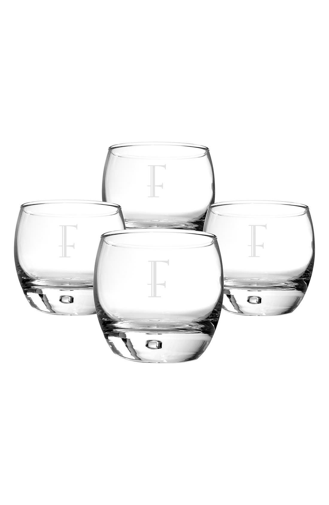 Alternate Image 1 Selected - Cathy's Concepts Personalized Whiskey Glasses (Set of 4)
