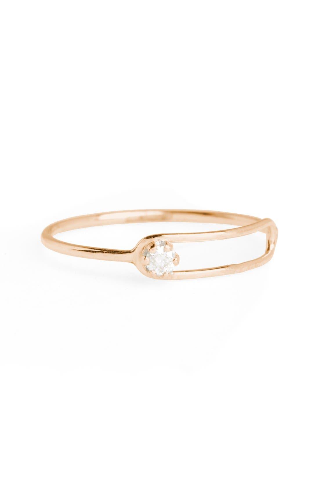Nimbus Diamond Oblong Ring,                         Main,                         color, Yellow Gold