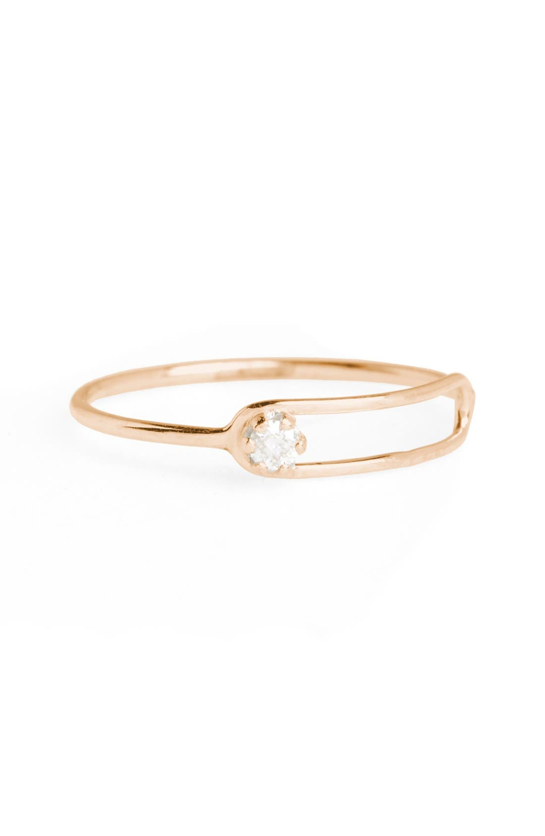 SARAH & SEBASTIAN Nimbus Diamond Oblong Ring