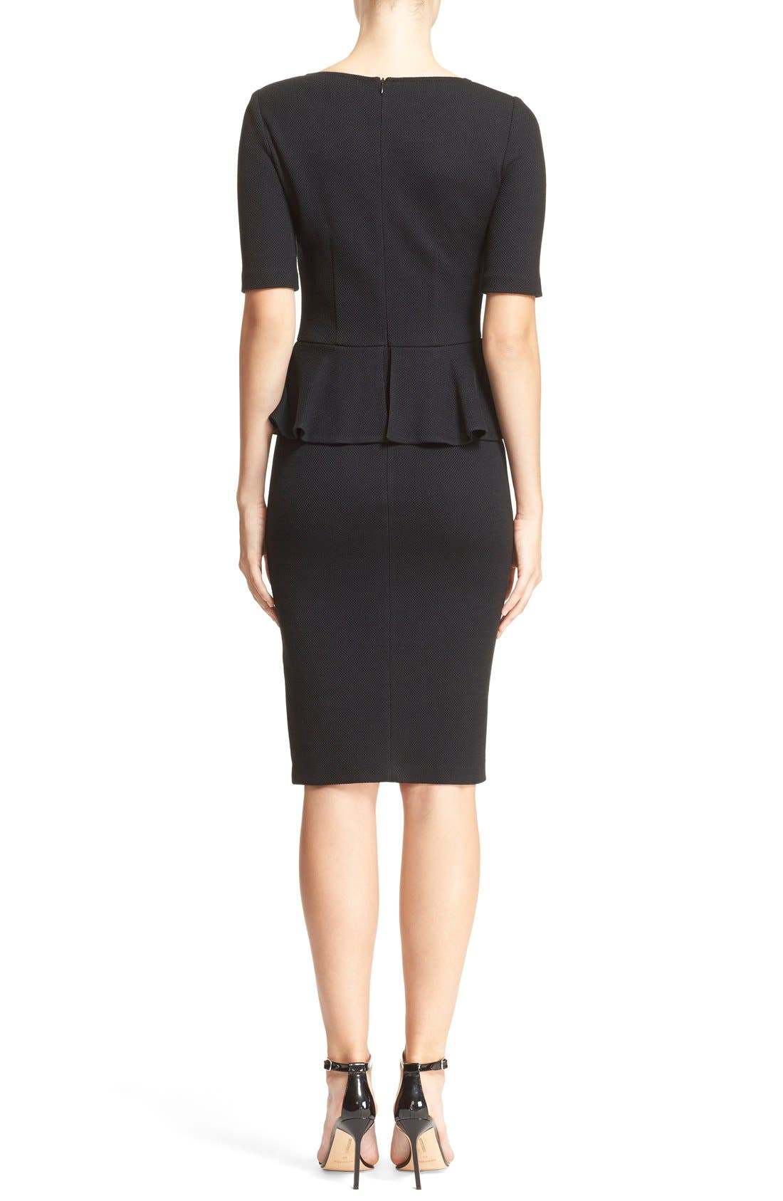 Alternate Image 2  - St. John Collection Peplum Milano Piqué Knit Dress