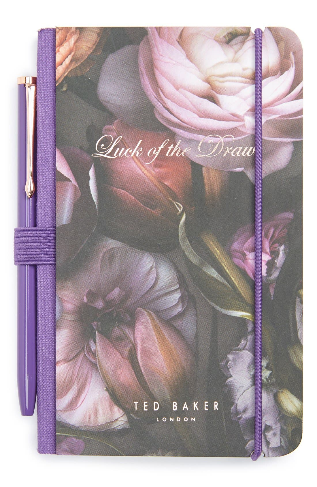Main Image - Wild and Wolf x Ted Baker London 'Shadow Flora' Mini Notebook & Pen