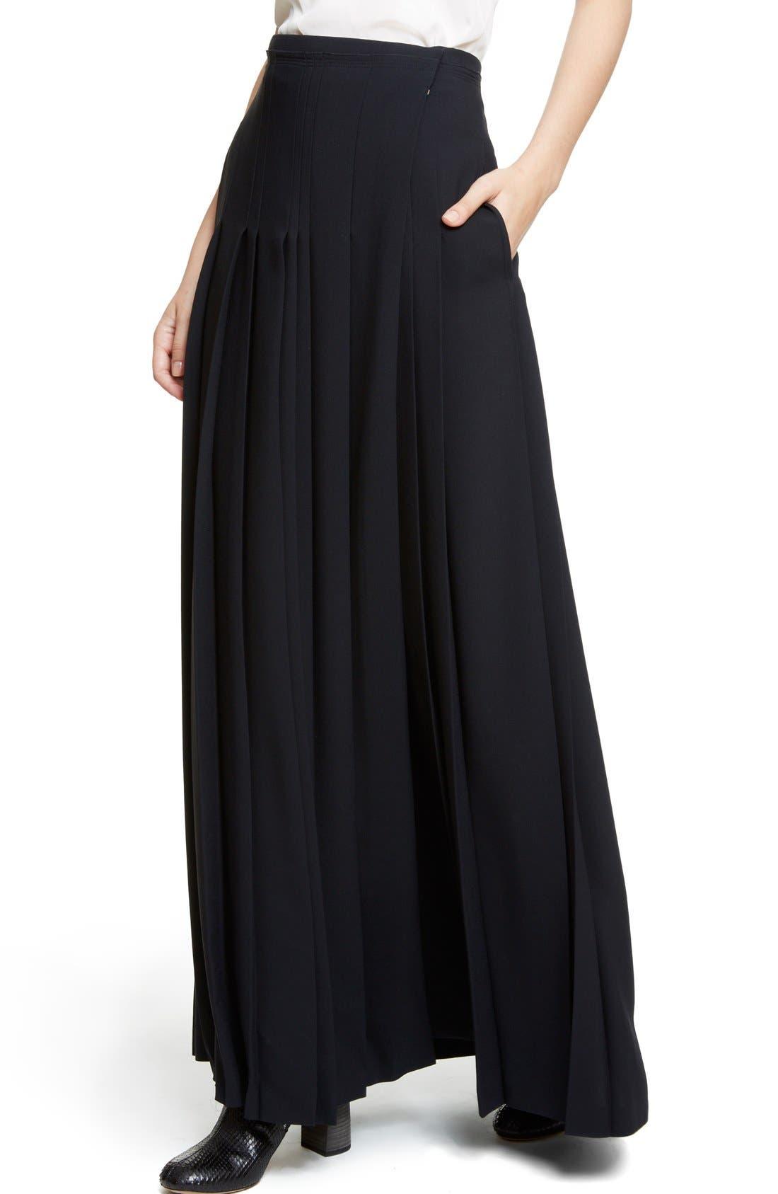 Alternate Image 5  - Chloé Pleated Cady Maxi Skirt