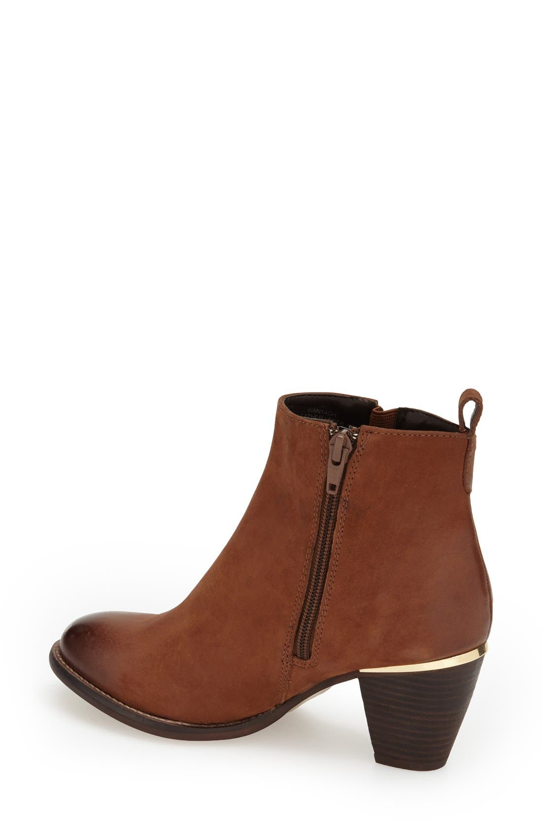 'Wantagh' Leather Ankle Boot,                             Alternate thumbnail 2, color,                             Cognac Leather