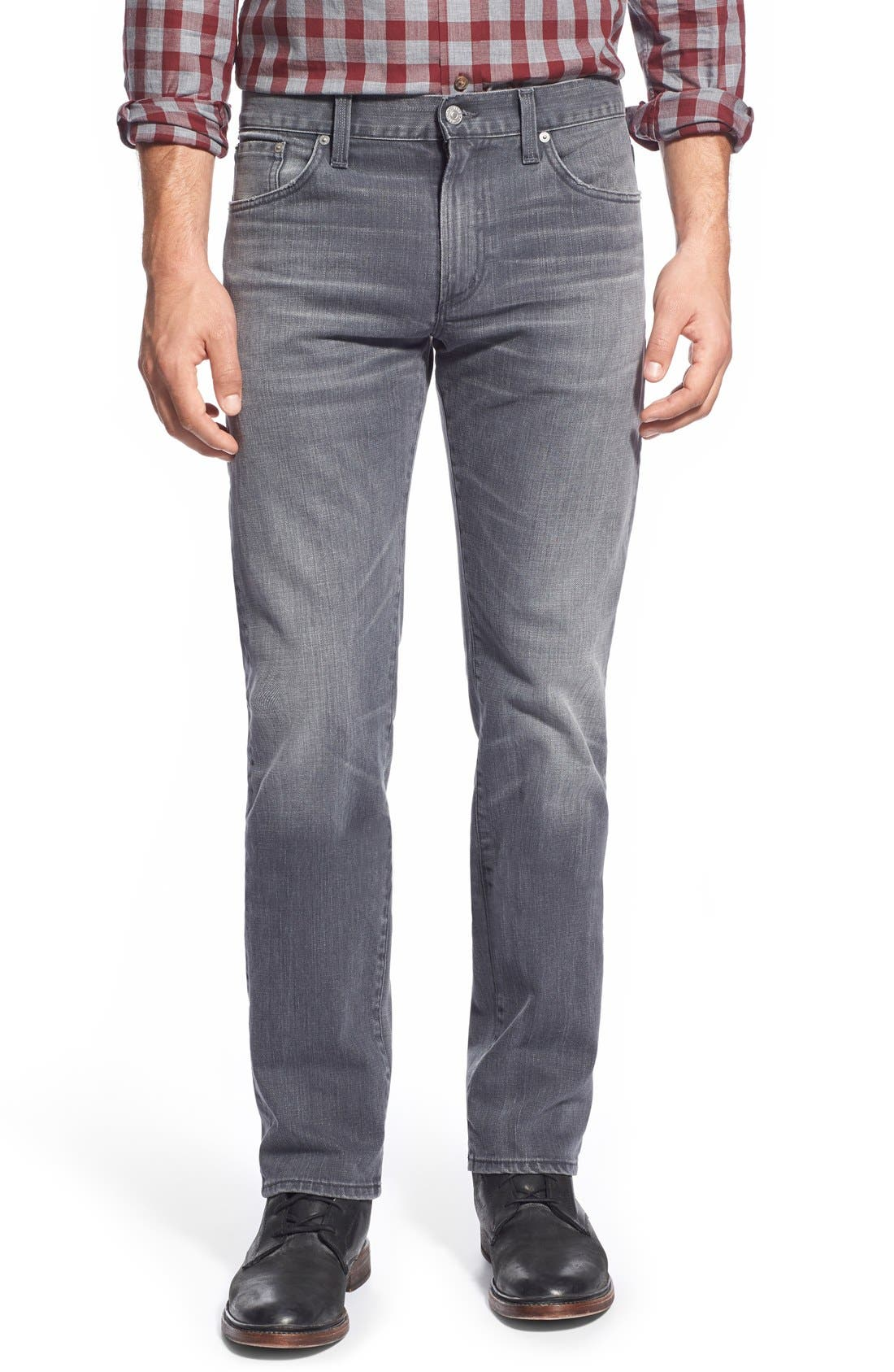 'Core' Slim Straight Leg Jeans,                             Main thumbnail 1, color,                             Shaker Heights