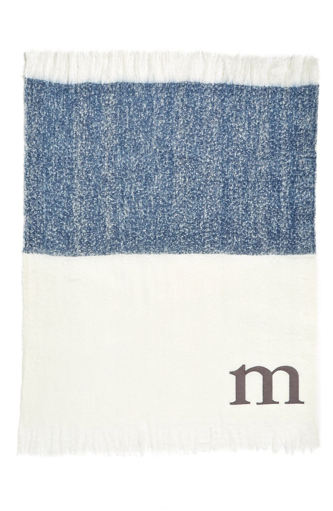 Alternate Image 2  - Nordstrom at Home Monogram Colorblock Throw