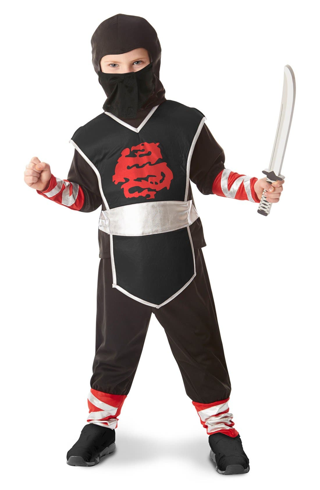 Ninja Costume Set,                             Alternate thumbnail 2, color,                             Black