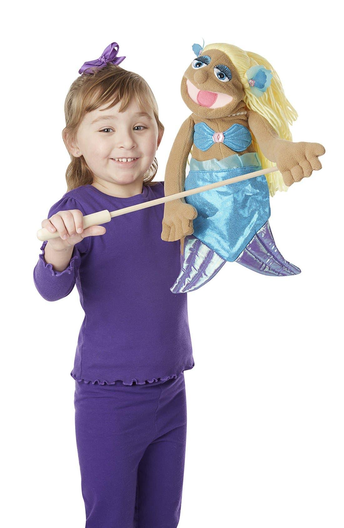Mermaid Puppet,                             Main thumbnail 1, color,                             Brown