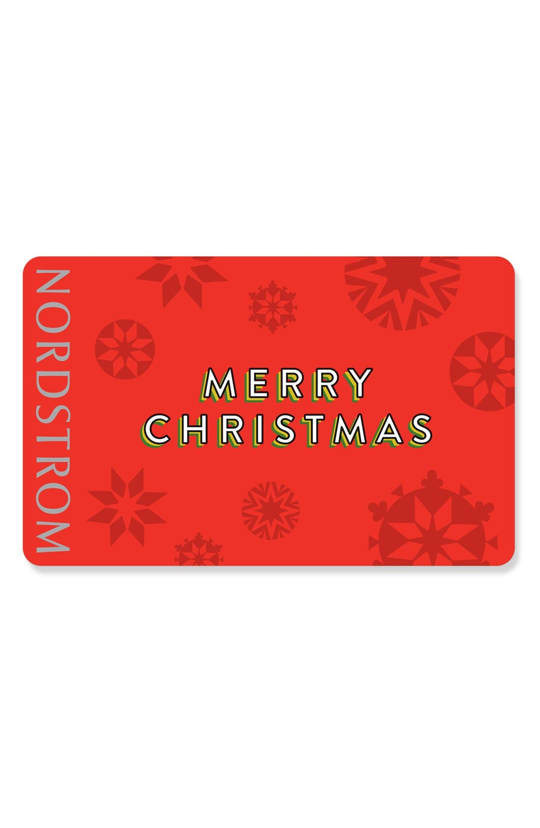 Nordstrom Merry Christmas Snowflakes Gift Card