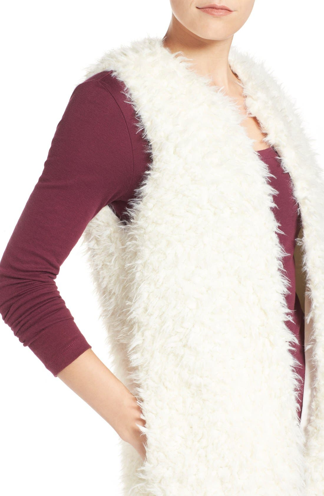Alternate Image 4  - LAmade 'Mac' Faux Fur Vest