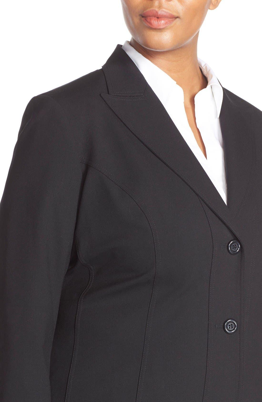 Alternate Image 3  - Lafayette 148 New York 'Gladstone' Stretch Wool Jacket (Plus Size) (Nordstrom Exclusive)
