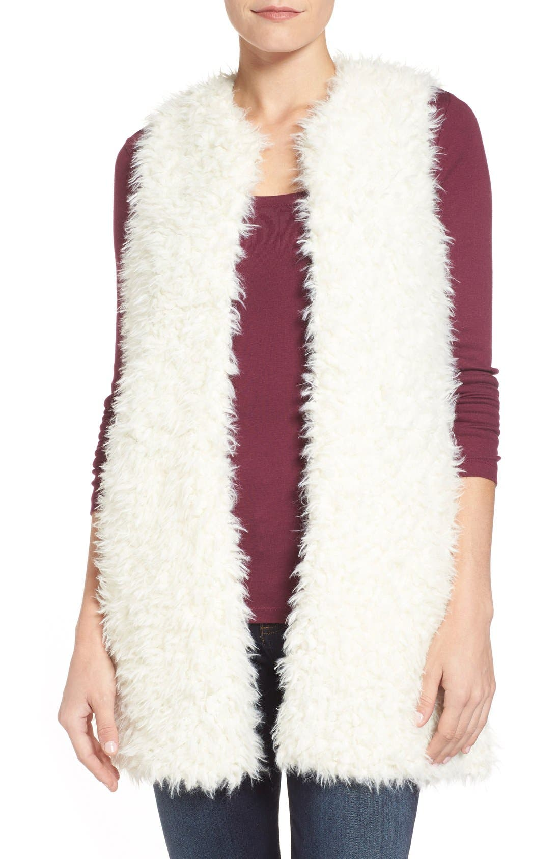 Alternate Image 1 Selected - LAmade 'Mac' Faux Fur Vest
