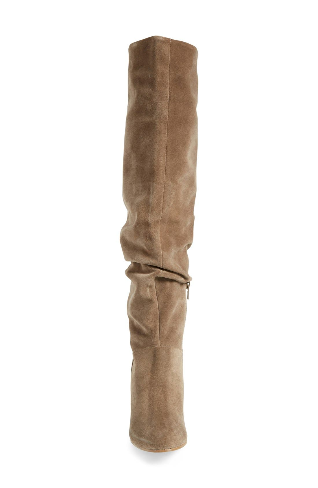 'Larimar' Over The Knee Boot,                             Alternate thumbnail 3, color,                             Taupe Suede