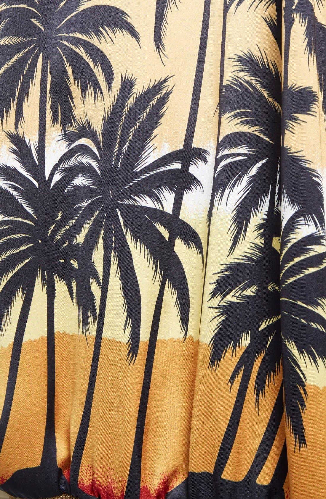 Alternate Image 3  - Saint Laurent Palm Print Raglan Bomber Jacket