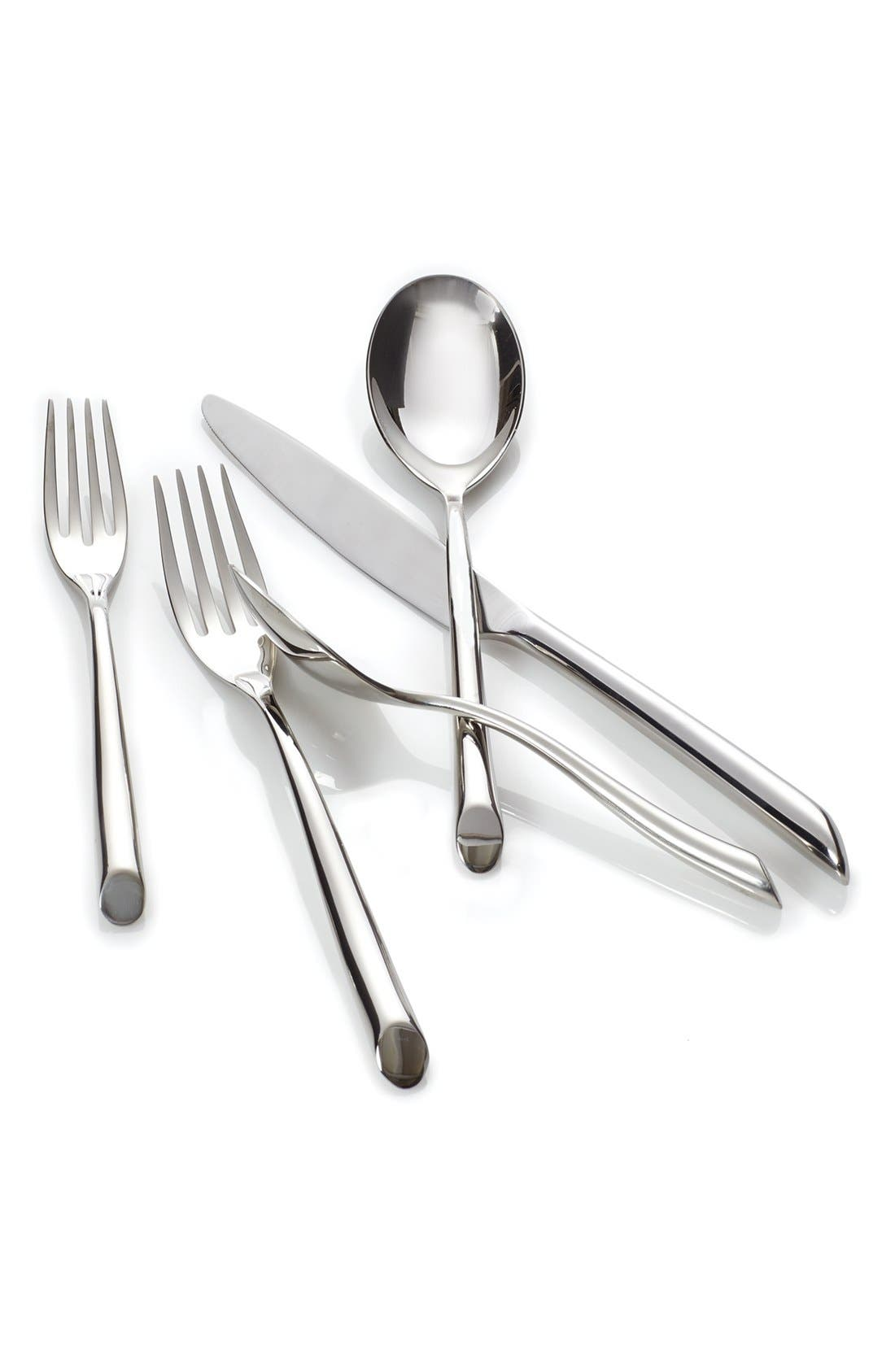 Nambé 'Frond' 5-Piece Stainless Steel Place Setting