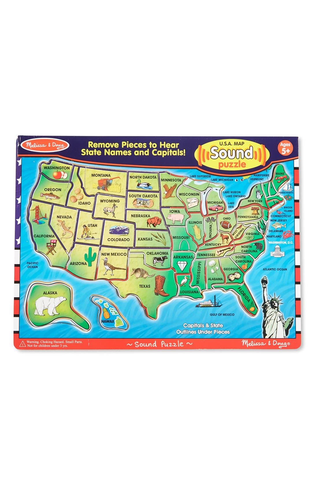 Alternate Image 1 Selected - Melissa & Doug USA Sound Puzzle