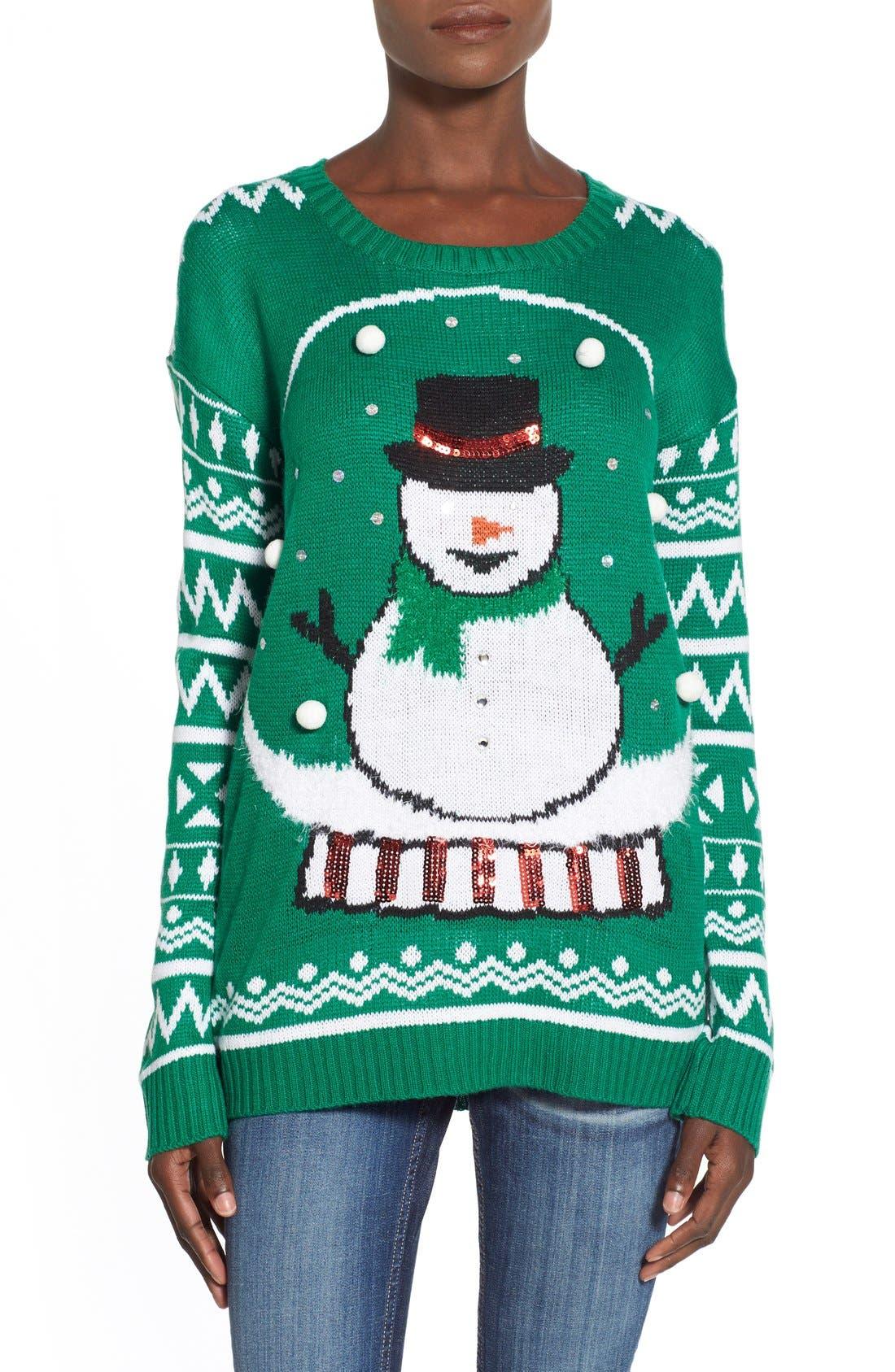 Main Image - Derek Heart 'Snow Globe' Musical Christmas Sweater