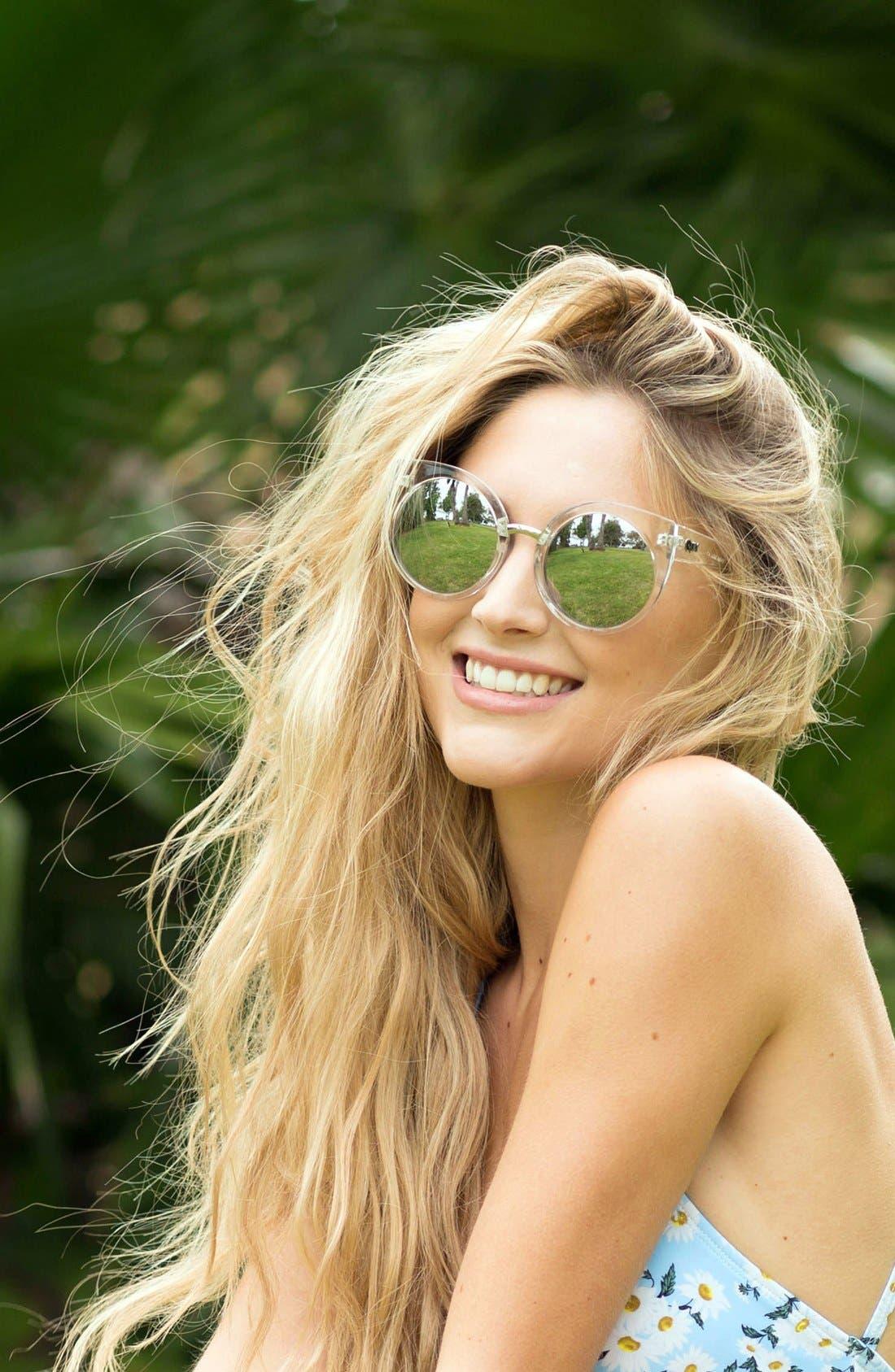 Alternate Image 3  - Quay Australia 'China Doll' 55mm Translucent Cat Eye Sunglasses
