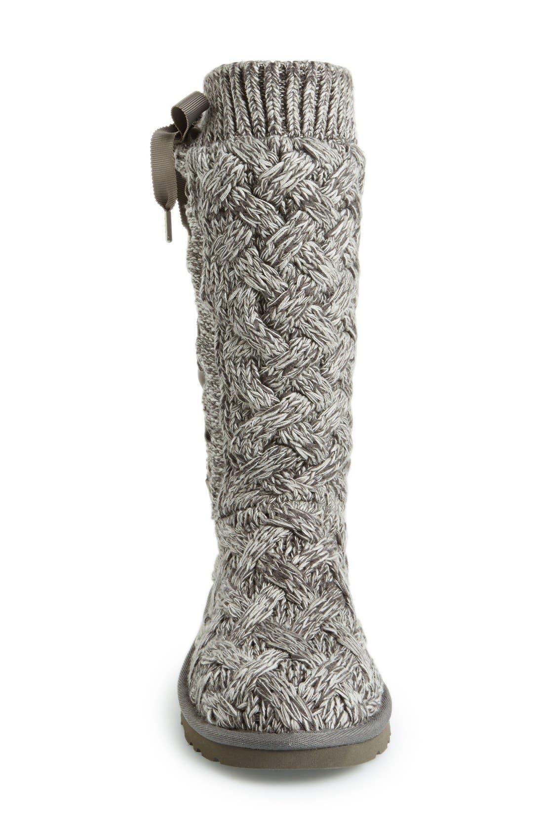 Alternate Image 3  - UGG® Australia 'Mahalya' Knit Boot (Women)