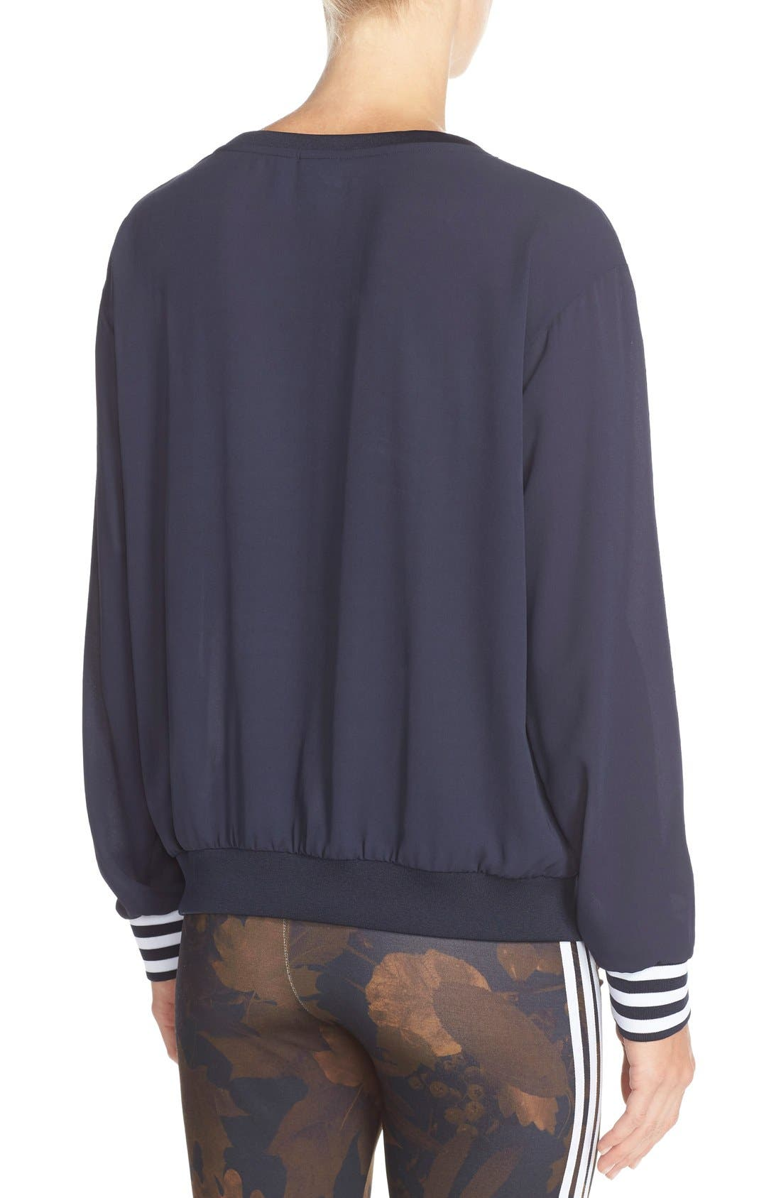 Alternate Image 2  - adidas Originals Trefoil Crewneck Sweatshirt