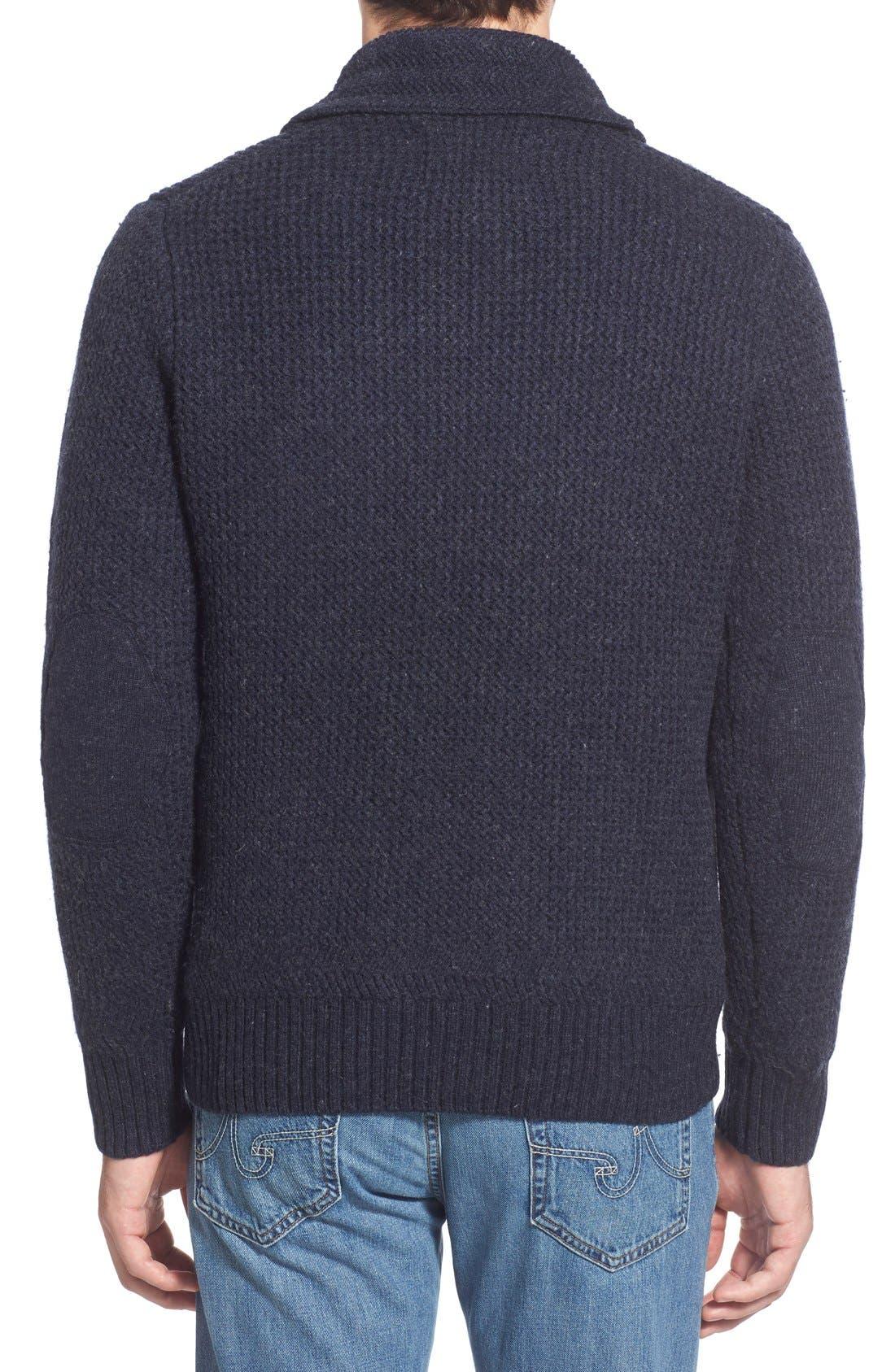 Alternate Image 2  - Schott NYC Regular Fit Shawl Collar Sweater